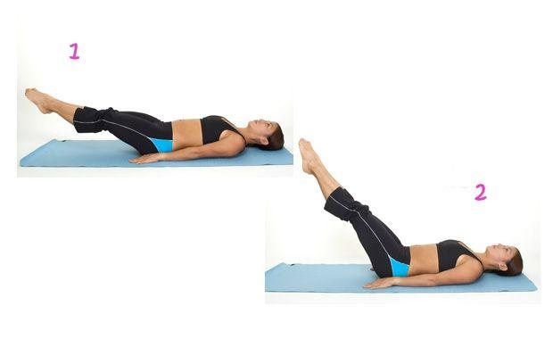 ejercicio abdominal elevacion piernas
