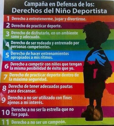 Derechos del niño deportista - Josemi Entrenador Personal Madrid